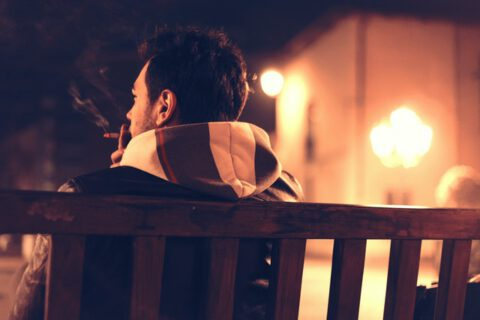 bench-man-person-night-1461